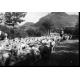L'éleveur et berger Lorenzo Fossati, en transhumance dans les années 1950 entre le Piémont et les Alpes du Sud. Coll. Fossati