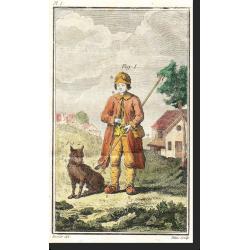 """Le Berger, Planche 1 extraite de l' """"Instruction pour les bergers et pour les propriétaires de troupeaux"""", Daubenton, An X"""